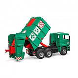 Bruder Игрушка машинка мусоровоз MАN TGA, зелёный, 02753, фото 4