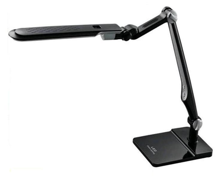 Светодиодная настольная лампа EBRU SL- 1107 10W черная, сенсор, диммер, универсальная Код.59735