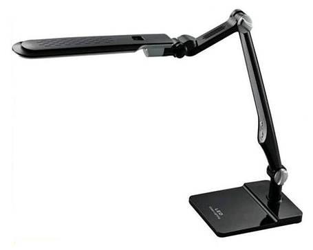 Светодиодная настольная лампа EBRU SL- 1107 10W черная, сенсор, диммер, универсальная Код.59735, фото 2
