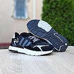 Мужские кроссовки Adidas Nite Jogger (черно-белые) 10160, фото 8