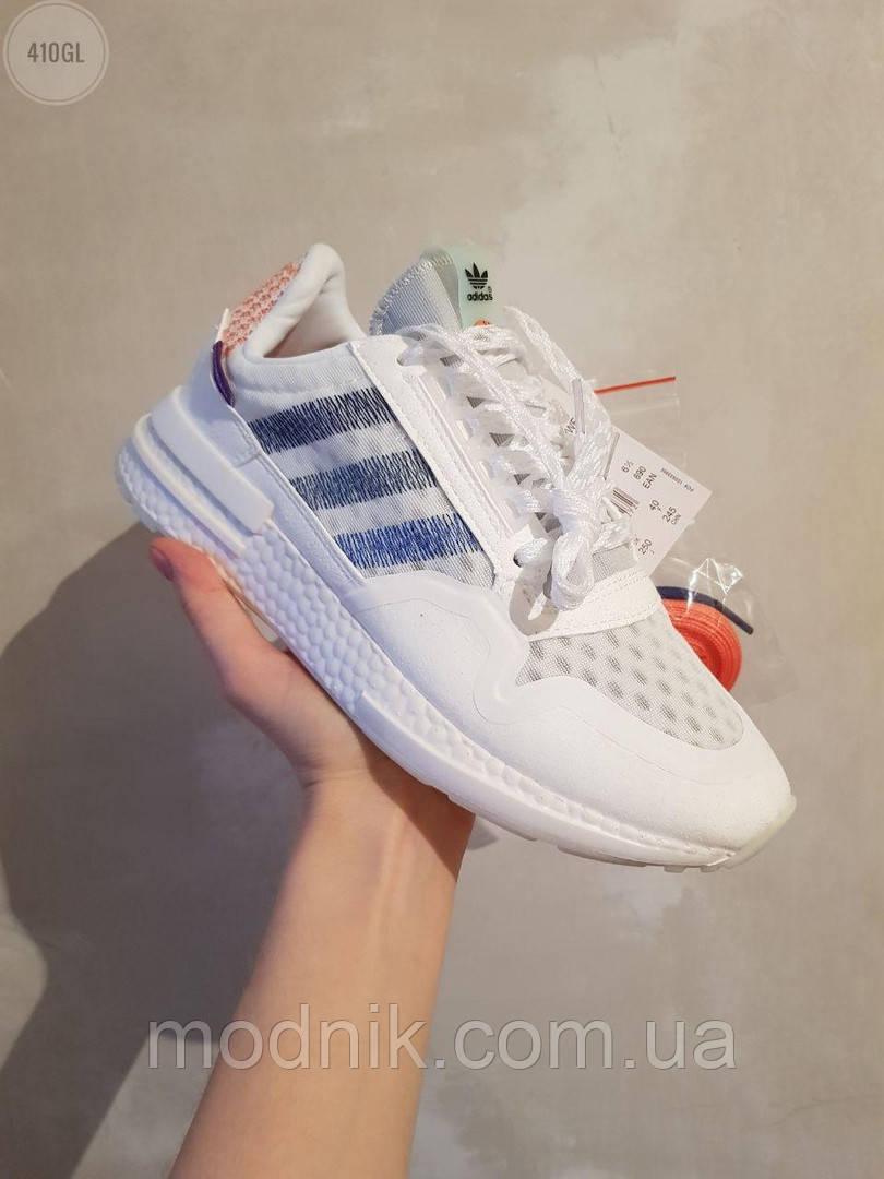 Женские кроссовки Adidas Commonwealth ZX 500 RM (белые) 410GL
