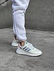 Женские кроссовки Adidas Commonwealth ZX 500 RM (белые) 410GL, фото 4