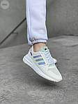 Женские кроссовки Adidas Commonwealth ZX 500 RM (белые) 410GL, фото 5