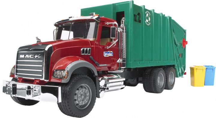 Bruder Игрушка машинка мусоровоз Mack Granite, 02812