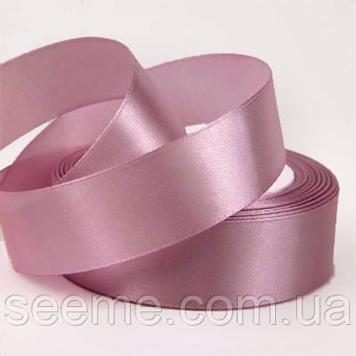 Лента атласная 25 мм, цвет розово-лиловый
