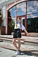 Детские шорты кожзам для девочки, фото 1