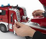 Bruder Игрушка большая пожарная машина SCANIA R-series с лестницей, 03590, фото 4