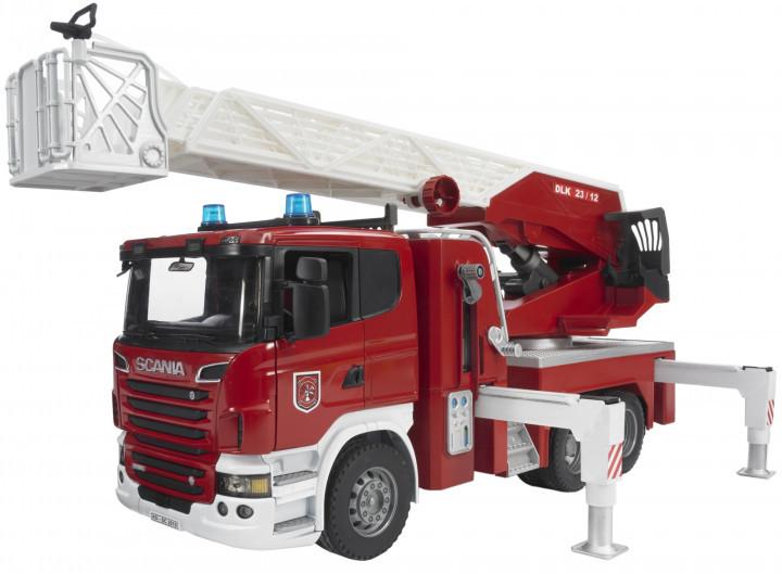 Bruder Игрушка большая пожарная машина SCANIA R-series с лестницей, 03590