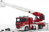 Bruder Игрушка большая пожарная машина SCANIA R-series с лестницей, 03590, фото 5