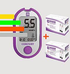 Глюкометр 2B Comfort +110 тест-полосок