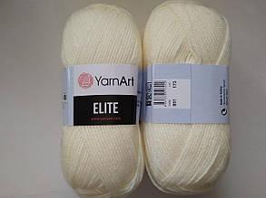 Пряжа Элит (Elite) Yarn Art, цвет молочный 851