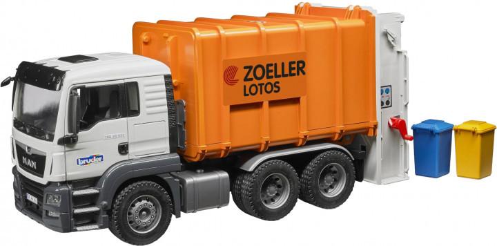 Bruder Игрушка машинка мусоровоз MAN TGS оранжевый, 03762