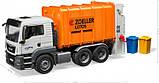 Bruder Игрушка машинка мусоровоз MAN TGS оранжевый, 03762, фото 4