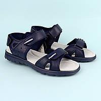 Босоножки сандалии на мальчика подростка Синие тм Томм р.36,37,38,40