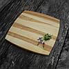Менажница деревянная 30х30 см. квадратная на 4 секции с соусницей из черешни, ясеня, фото 5