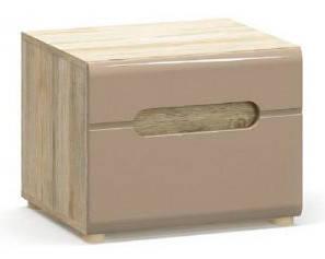 Комплект прикроватных тумб Флоренс Мебель Сервис (Секвоя + Капучино глянцевый)