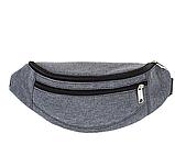 Універсальні сумки-бананки на пояс на 2отд. (ЧОРНИЙ)13*28см, фото 3