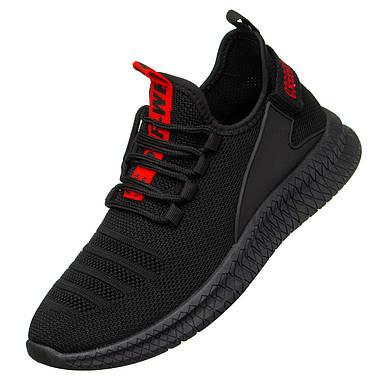 Чоловічі кросівки SlingMe 42 Black-Red, фото 2