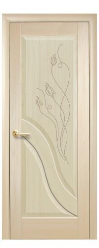 Межкомнатная дверь Амата гравировка (полотно)