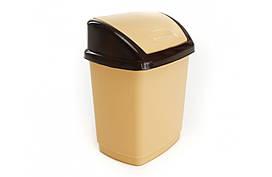 Ведро для мусора Домик 27л бежевый 02038GR