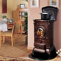 Камин печь буржуйка Bonro чугунная Gold двойная стенка 9 кВт (Польша)