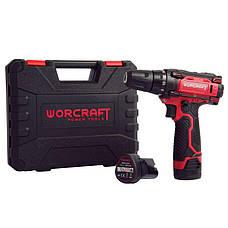 Шуруповерт акумуляторний з двома батареями в кейсі Worcraft WCD-12 Li, фото 2