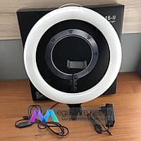 Селфи кольцо лампа 38 см с держателем для телефона от сети Soft Ring Light LED подсветкой профессиональная