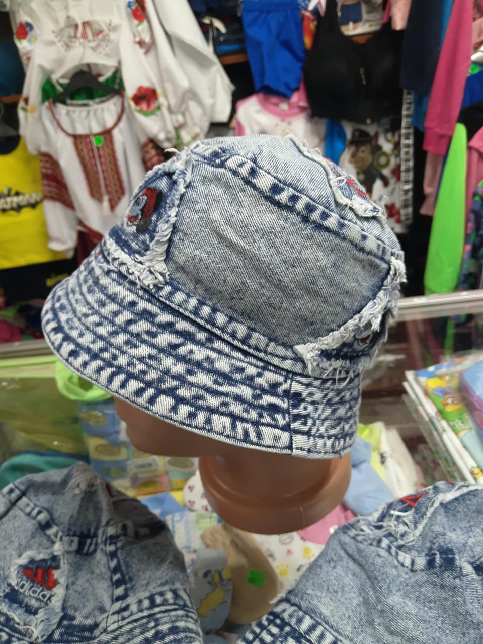 Панама детская джинсовая хлопковая р.48 - 52