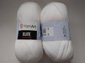 Пряжа Элит (Elite) Yarn Art, цвет белый 150