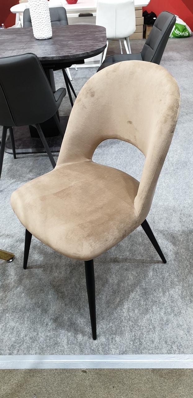 Обеденный стул М-33 капучино вельвет от Vetro Mebel