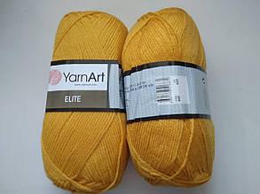 Пряжа Элит (Elite) Yarn Art, цвет желтый 845