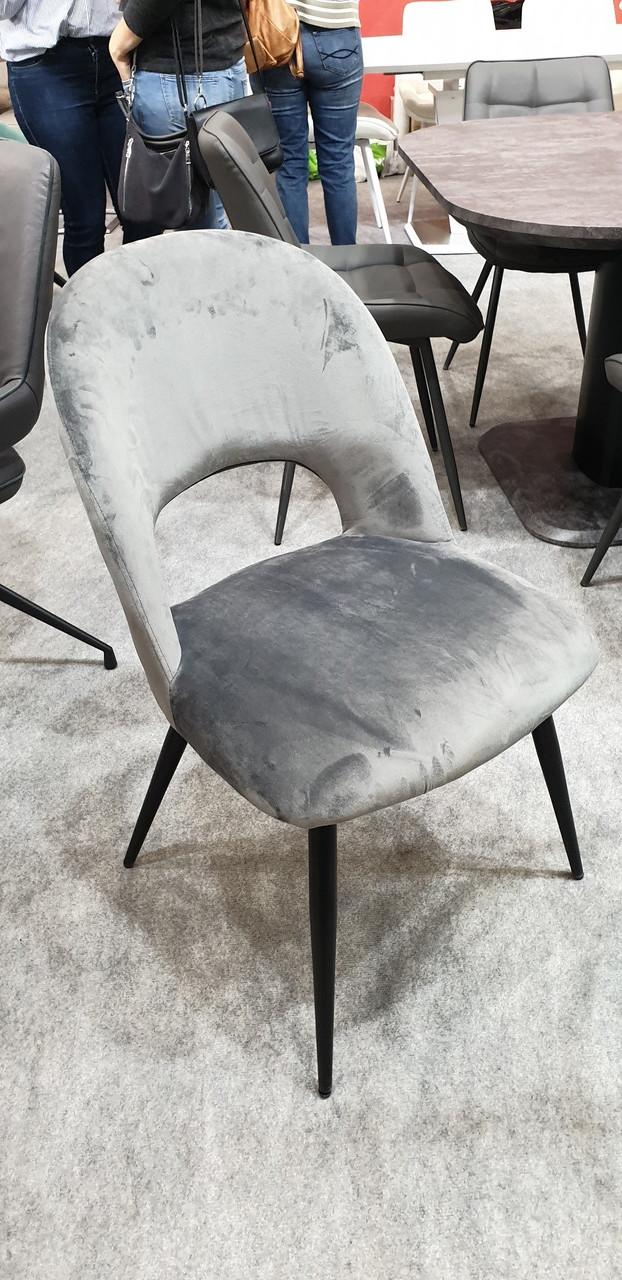 Обеденный стул М-33 пепельный вельвет от Vetro Mebel