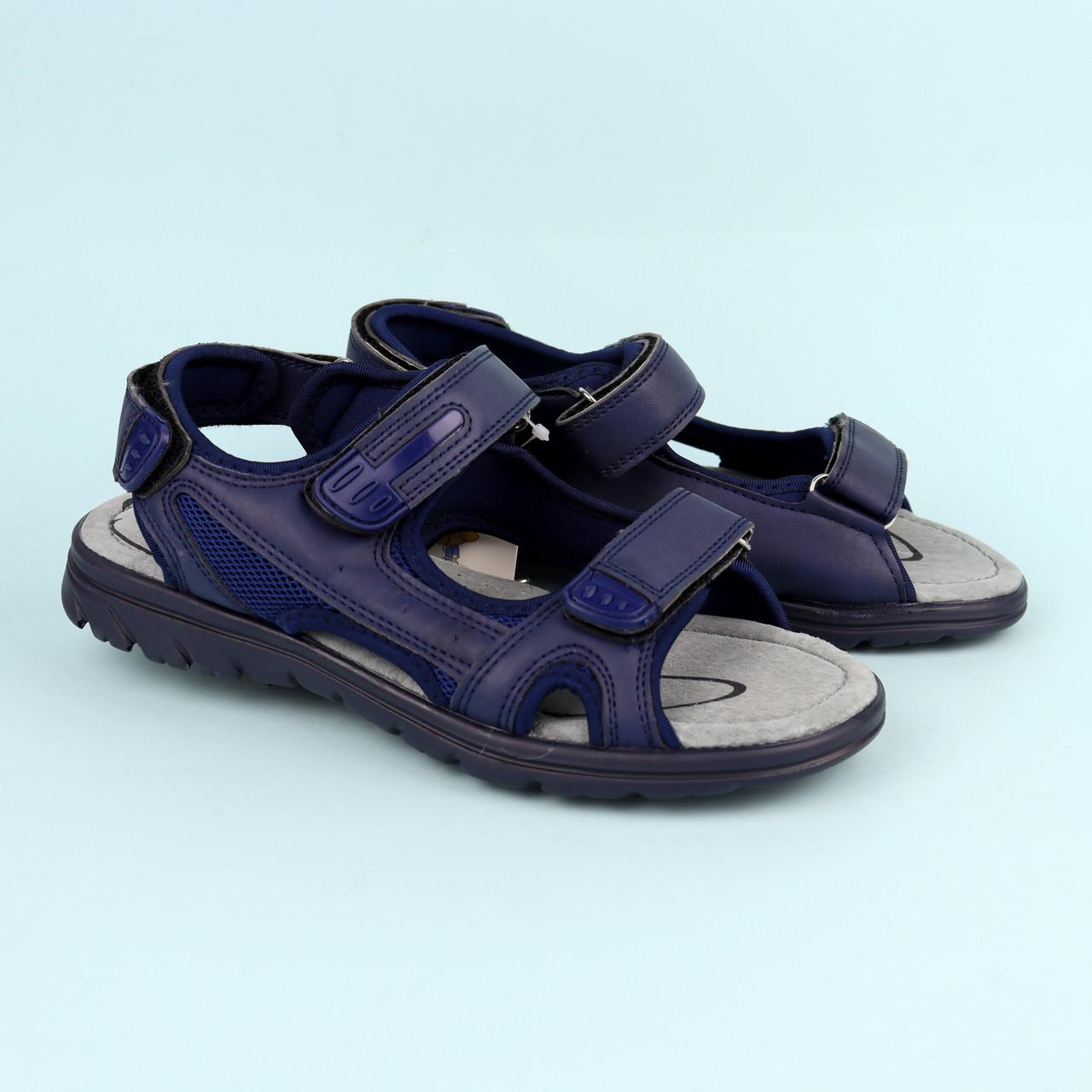 Синие босоножки сандалии на мальчика подростка Синие тм Томм р.36,37,38,39,40,41