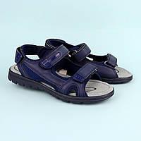 Синие босоножки сандалии на мальчика подростка Синие тм Томм р.36,37,38,39,40,41, фото 1