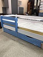 """Кровать подростковая """"Мила"""" цвет: белый+синий"""