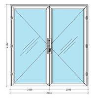 Алюмінієві холодні маятникові штульпові двері ALTEST