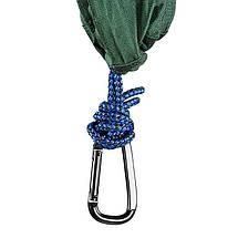 """Гамак подвесной походной GreenCamp """"MINAS"""", размер 270*180 см, полиэстр, цвет зеленый, 2 карабина, фото 2"""