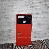 Силиконовый чехол накладка для Xiaomi Redmi 6 красный  Acrylic