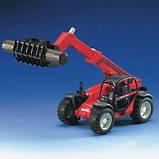 Bruder Игрушка машинка дорожный погрузчик с телескопической стрелой MLT 633, 02125, фото 2