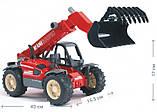 Bruder Игрушка машинка дорожный погрузчик с телескопической стрелой MLT 633, 02125, фото 5