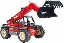 Bruder Игрушка машинка дорожный погрузчик с телескопической стрелой MLT 633, 02125