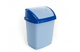 Ведро для мусора Домик 16л Лазурный 02037GR