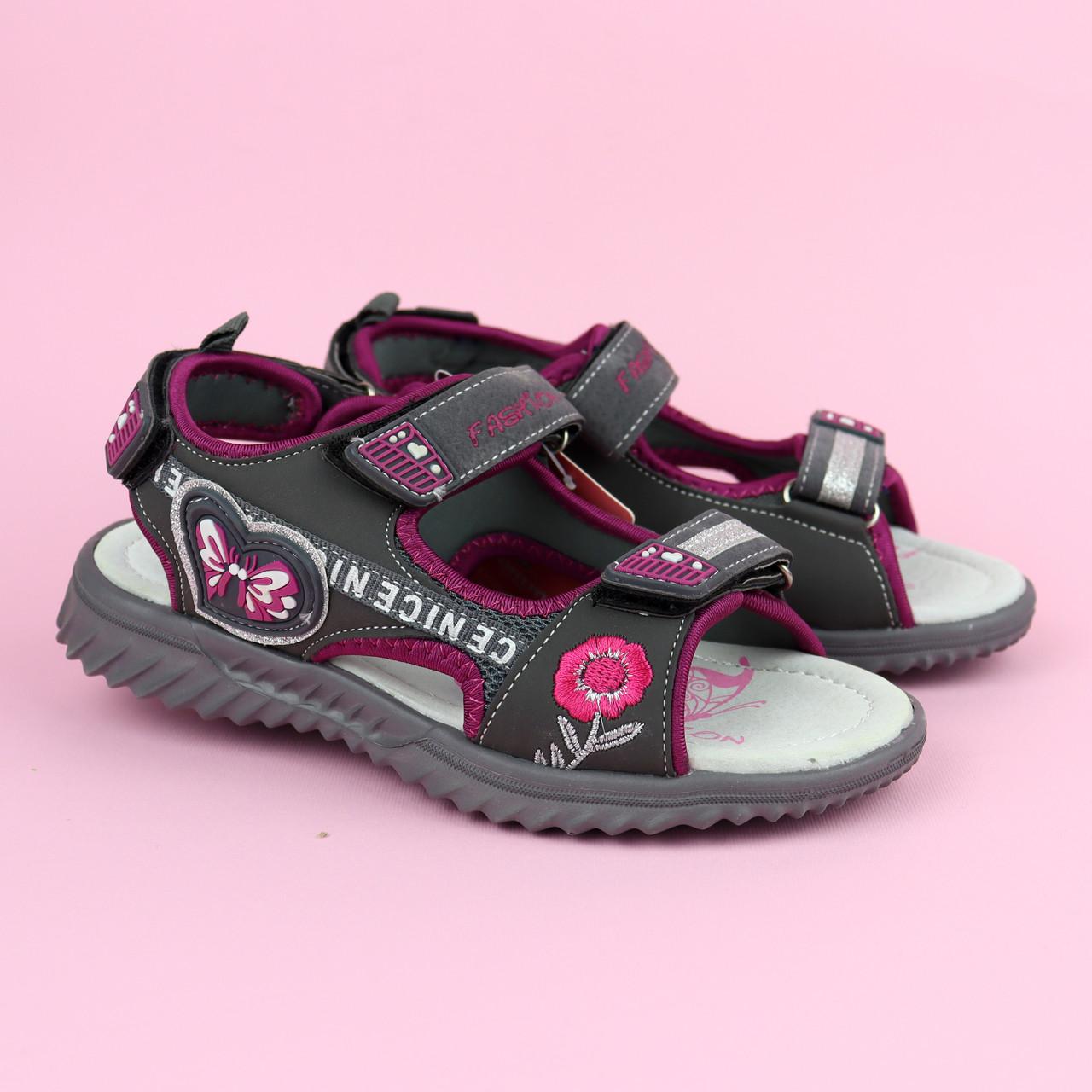 Босоножки спортивные сандалии девочке Графит тм Том.м размер 33,35,36