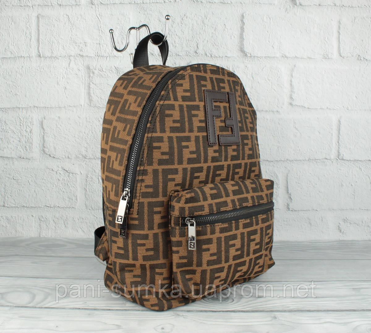 Вместительный рюкзак Fendi 2019-1 среднего размера (копия)