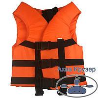 Жилет дитячий рятувальний страхувальний 30-50 кг помаранчевий сертифікований, фото 1