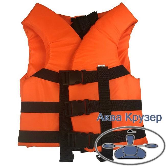 Жилет детский спасательный страховочный, 30-50 кг, оранжевый, с сертификатом