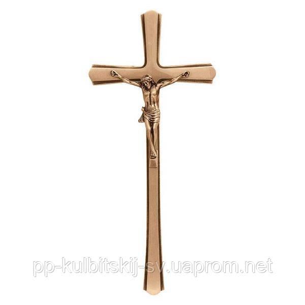 Хрест з розп'яттям на памятник бронзовий  Lorenzi 2169 \40