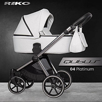 Дитяча універсальна коляска 2 в 1 Riko Qubus 04 - platinum