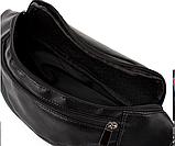 Универсальные сумки-бананки на пояс из искусственной кожи (ЧЕРНЫЙ)13*28см, фото 4