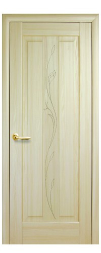 Межкомнатная дверь Премьера гравировка (полотно)